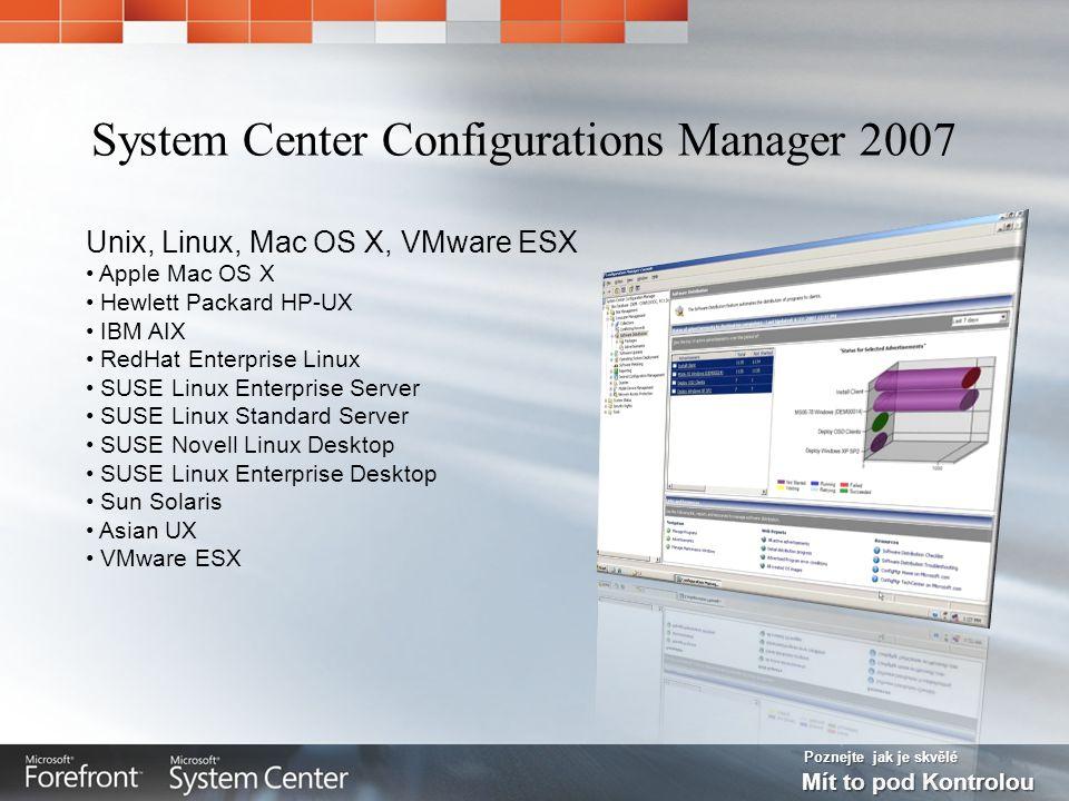 Poznejte jak je skvělé Mít to pod Kontrolou Unix, Linux, Mac OS X, VMware ESX Apple Mac OS X Hewlett Packard HP-UX IBM AIX RedHat Enterprise Linux SUS