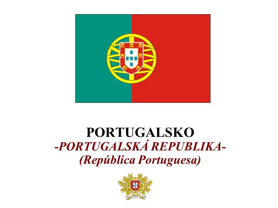 ZÁKLADNÍ ÚDAJE  Rozloha: 92 382 km 2 (109.místo na světě)  Počet obyvatel: 10 524 000 (68.místo na světě)  Hustota osídlení: 114 obyv./km 2  Hlavní město: Lisabon (2 128 000 obyvatel)  Členství v organizacích: OECD, OSN, NATO, EU  Úřední jazyk: portugalština  Měna: euro  Cestovní ruch  Nejzaostalejší stát EU před r.