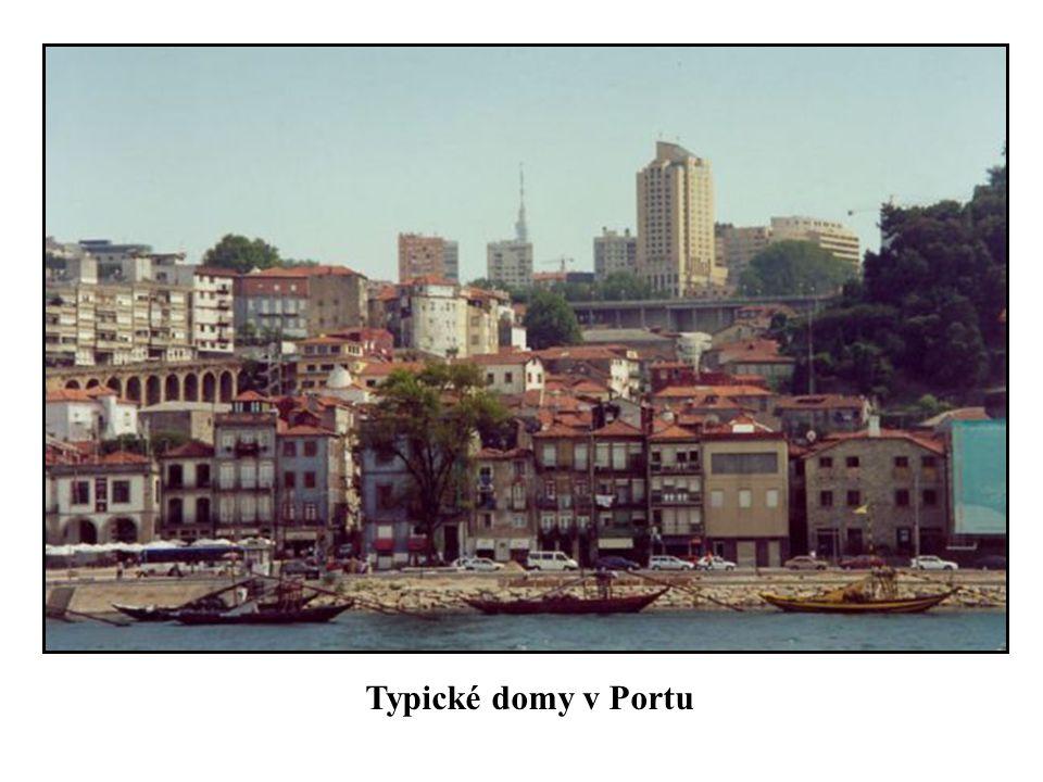 Typické domy v Portu