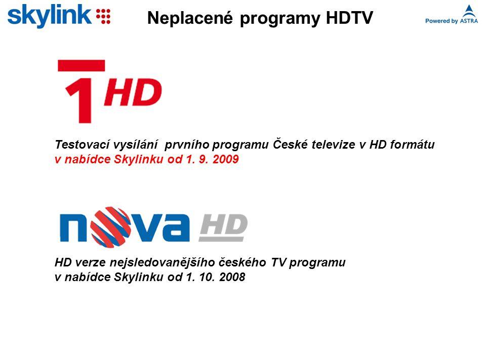 HD verze nejsledovanějšího českého TV programu v nabídce Skylinku od 1.