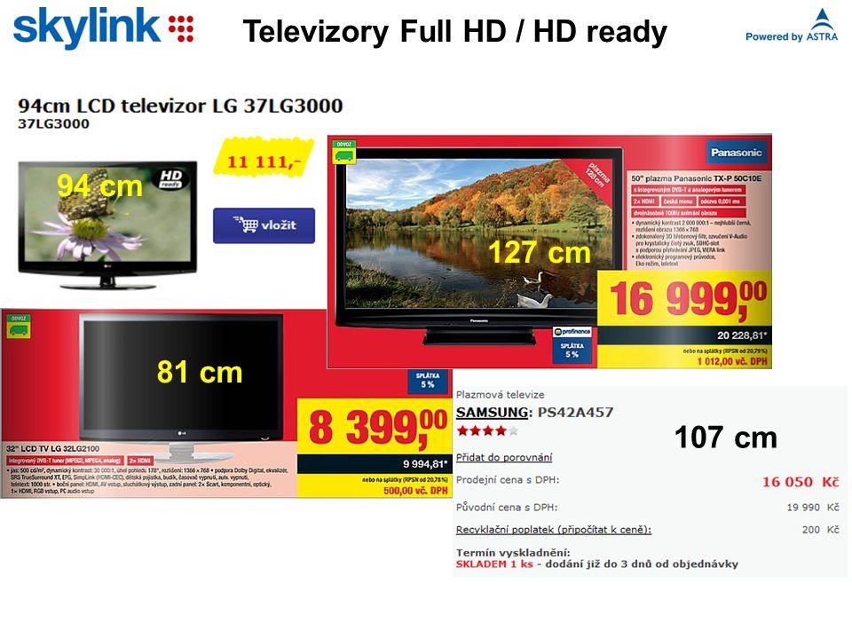 Televizory Full HD / HD ready 94 cm 127 cm 81 cm 107 cm