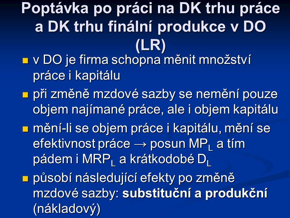 Poptávka po práci na DK trhu práce a DK trhu finální produkce v KO (SR) MRP L ARP L L CZK/L bod ukončení činnosti firmy v SR Pokud by mzdová sazba vys
