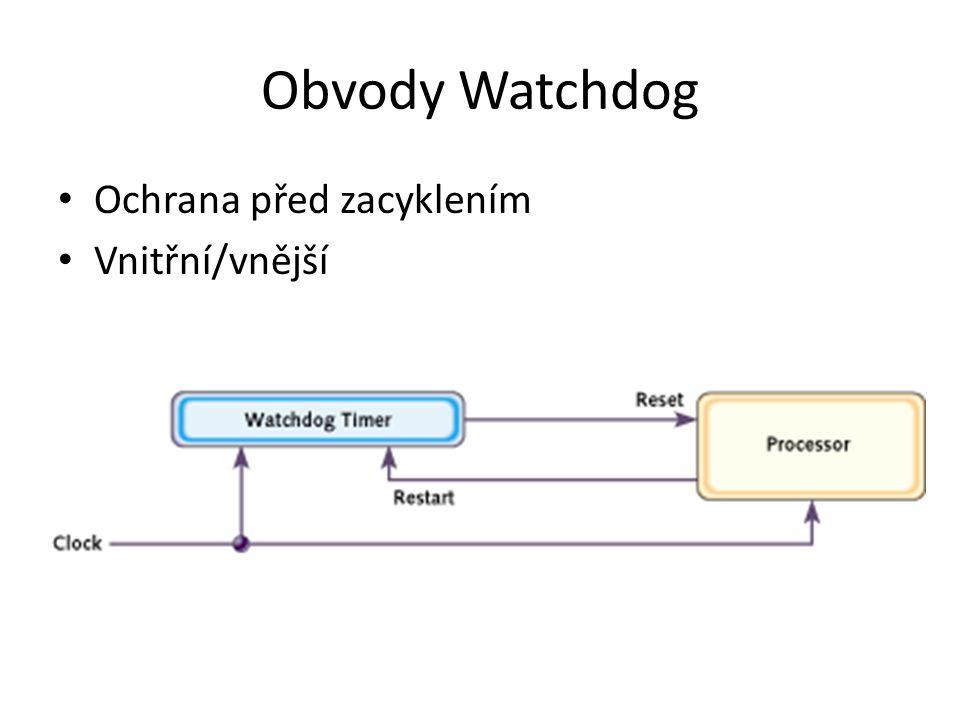 Obvody Watchdog Ochrana před zacyklením Vnitřní/vnější