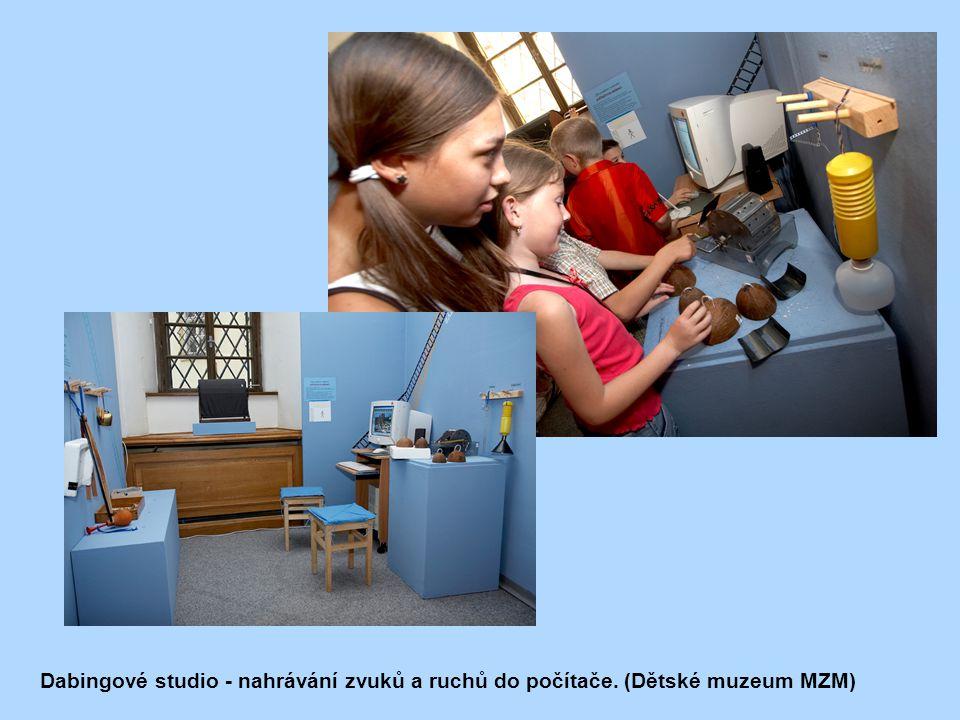 Dabingové studio - nahrávání zvuků a ruchů do počítače. (Dětské muzeum MZM)