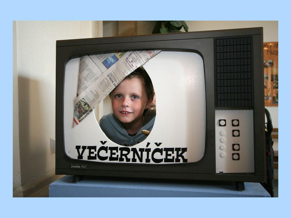 Ve staré televizi se děti mohly vyfotit jako Večerníček. (Dětské muzeum MZM)