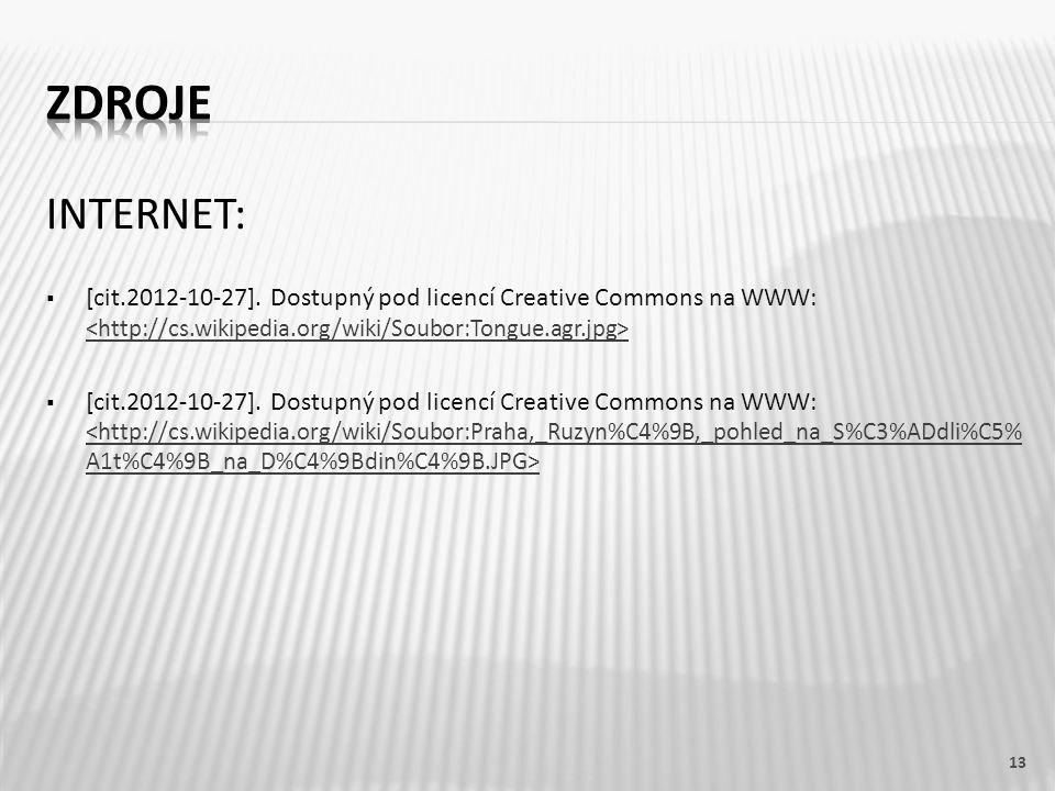 INTERNET:  [cit.2012-10-27]. Dostupný pod licencí Creative Commons na WWW: 13