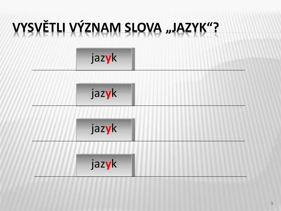 6 Český jazyk máme 5x týdně.Na cestě se vytvořily sněhové jazyky.