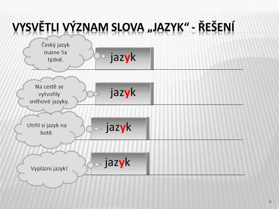 6 Český jazyk máme 5x týdně. Na cestě se vytvořily sněhové jazyky.