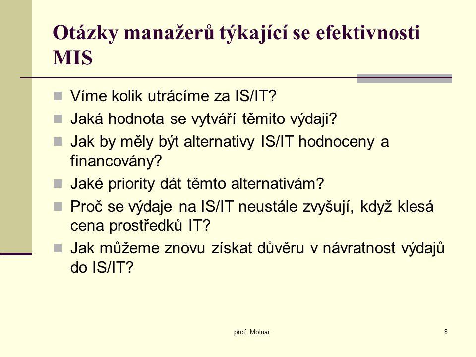 Matice přínosů IS/IT prof.