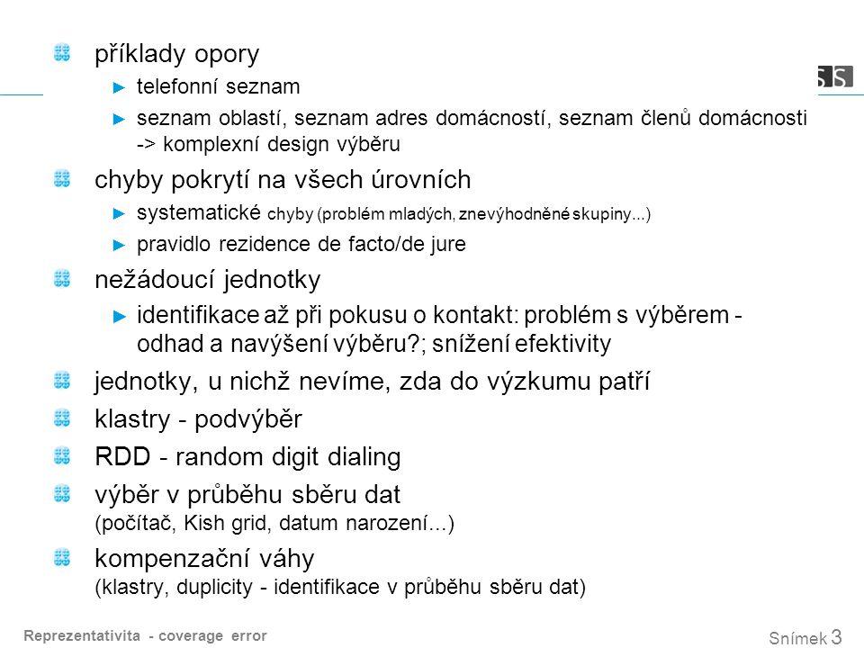 Snímek 4 obecná populace v ČR - domácnosti a jednotlivci ► individuální - obvykle: 1.