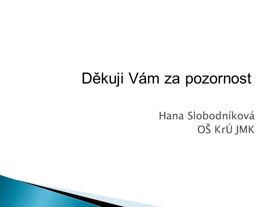 Hana Slobodníková OŠ KrÚ JMK Děkuji Vám za pozornost