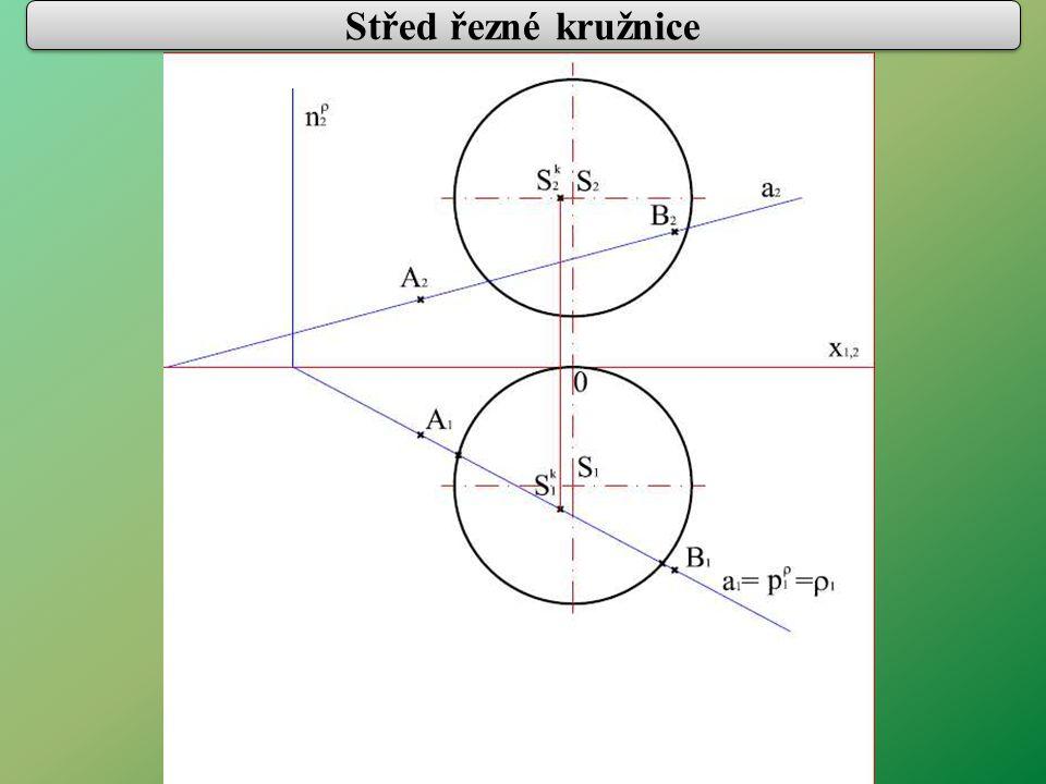 Střed řezné kružnice