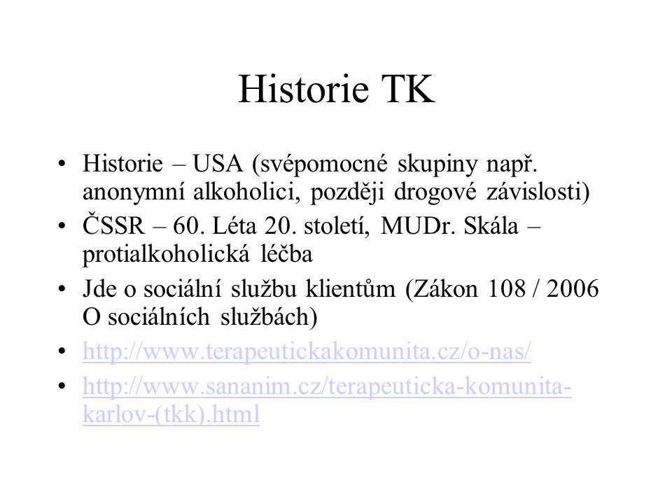 Historie TK Historie – USA (svépomocné skupiny např.