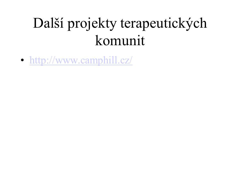 Další projekty terapeutických komunit http://www.camphill.cz/