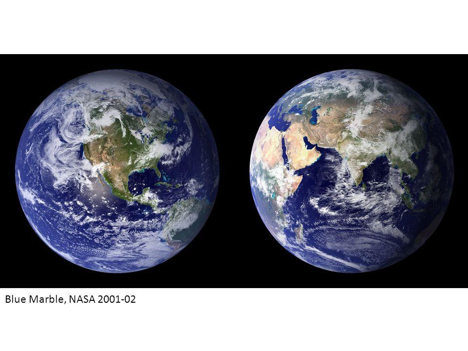 Blue Marble, NASA 2001-02