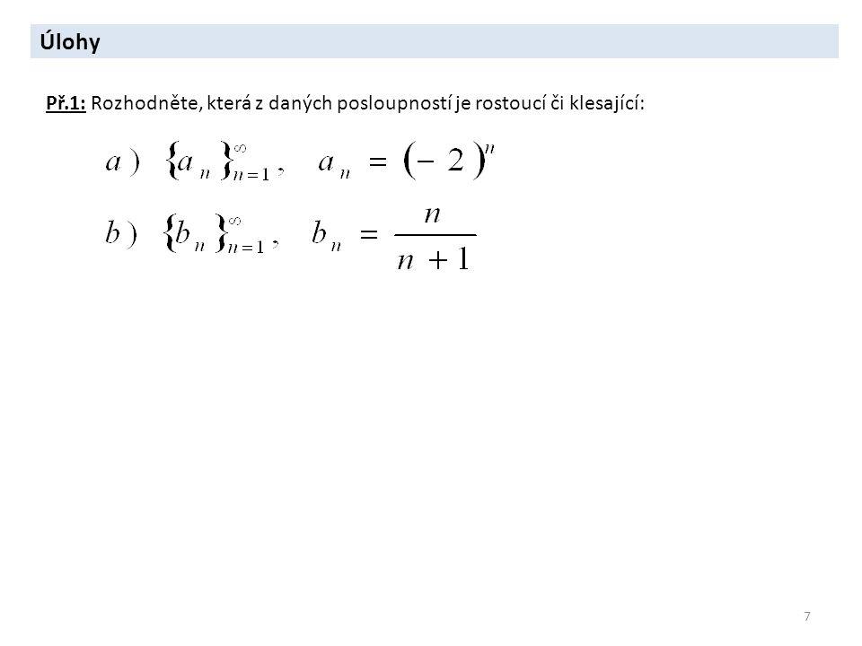 2 Aritmetická posloupnost 8 Posloupnost se nazývá aritmetická, právě když existuje takové d R, že pro každé n N je : diference aritmetické posloupnosti Dále platí: Pro součet s n prvních n členů aritmetické posloupnosti, tj.
