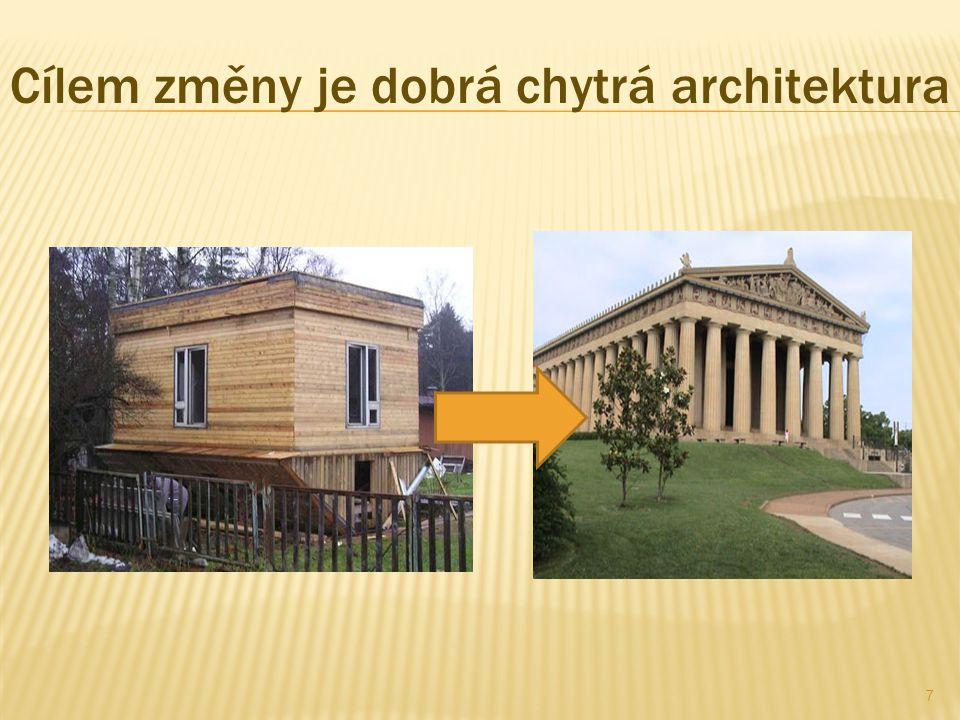 Cílem změny je dobrá chytrá architektura 7