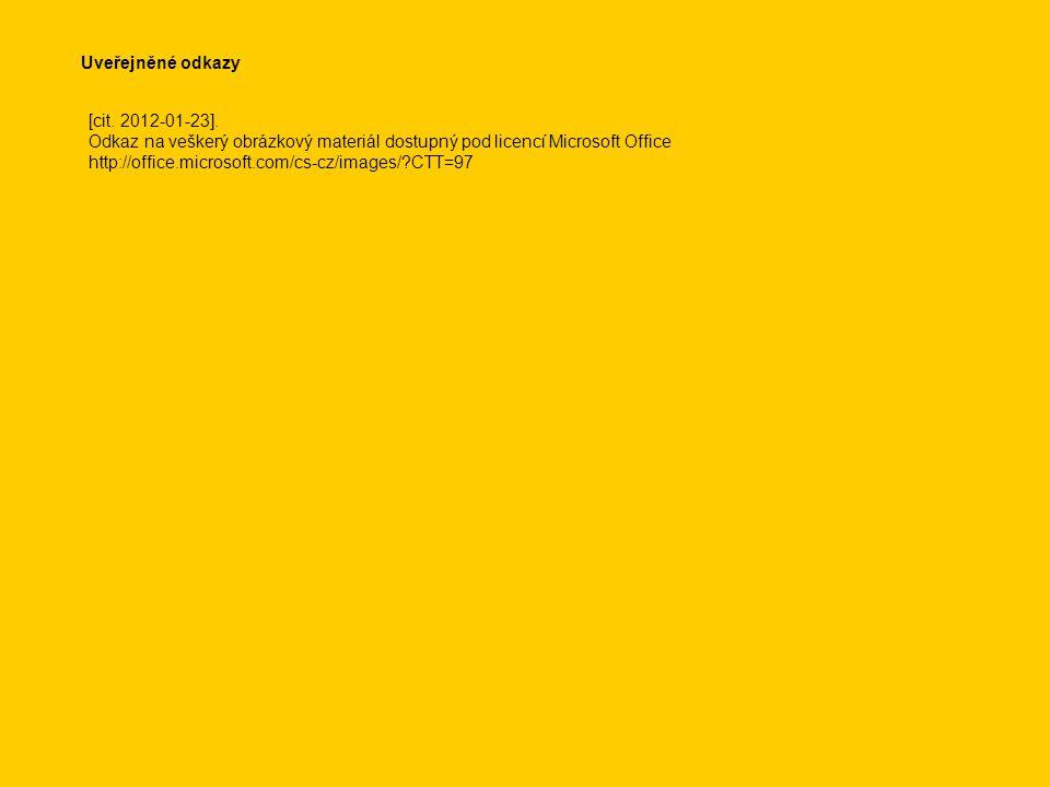 Uveřejněné odkazy [cit. 2012-01-23].