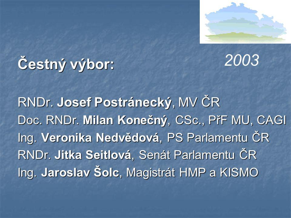 Čestný výbor: RNDr. Josef Postránecký, MV ČR Doc.