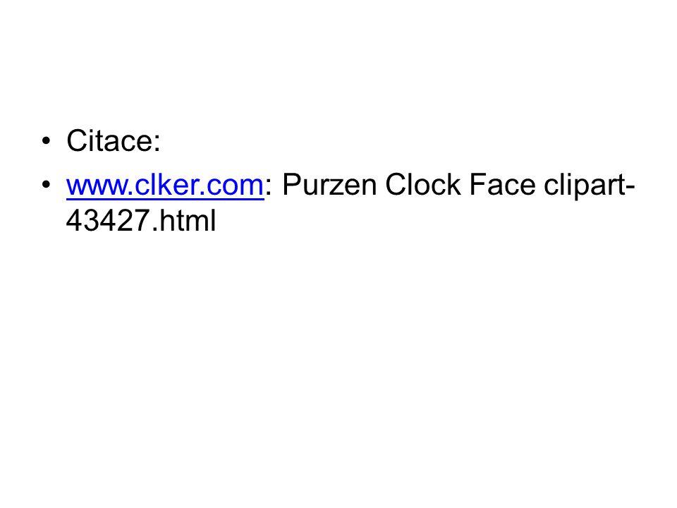 Citace: www.clker.com: Purzen Clock Face clipart- 43427.htmlwww.clker.com