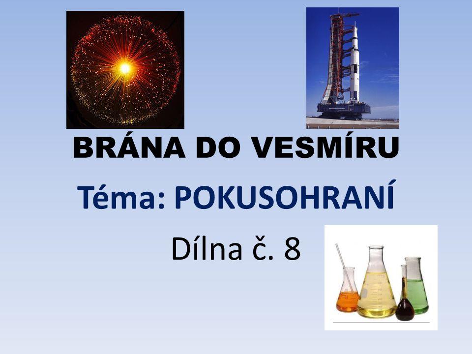Zábavné pokusy a malá velká poznání Dopoledne plné pokusů Vyzkoušíme, jak spolu reagují - ocet, soda, olej, potravinářské barvy …) Vyrobíme si např.