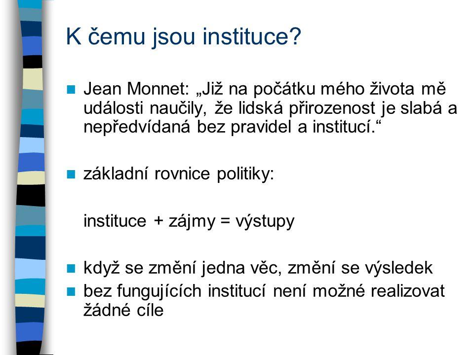 Historie výzkumu institucí důležitost zaznamenána již na konci 19.