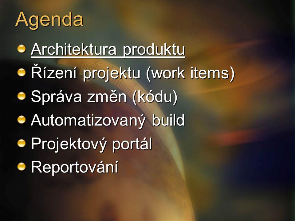 Architektura zdálky App Tier StandbyServer DatabaseMirror Team Foundation Data Tier Team Foundation App Tier Build MachineVersion Control Proxy Report Client Team Foundation Client Tier