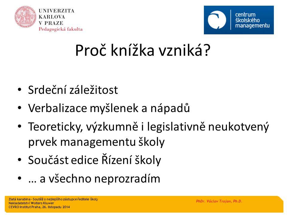 PhDr.Václav Trojan, Ph.D. Koho jsem přizval ke spolupráci.