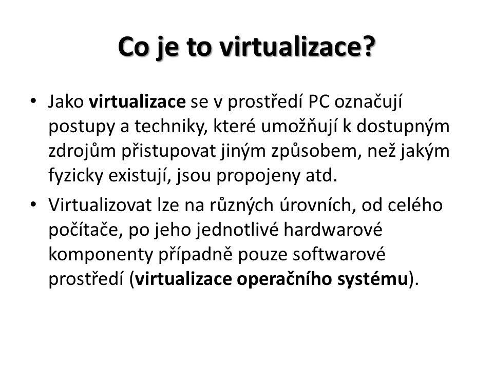 Co je to virtualizace.