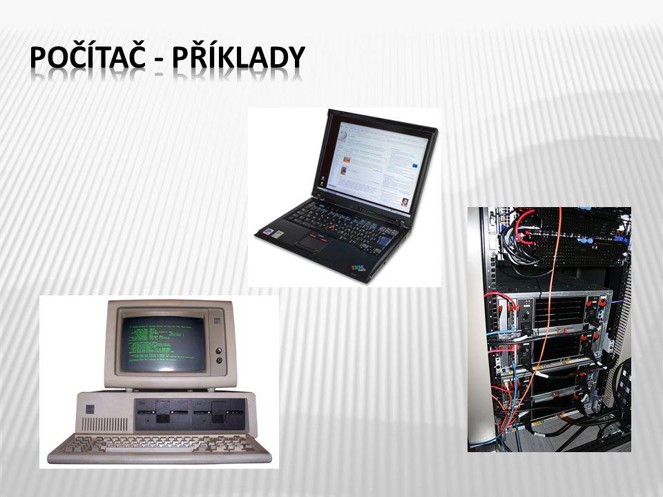 Počítač je stroj, který podle předem připravených instrukcí zpracovává data.
