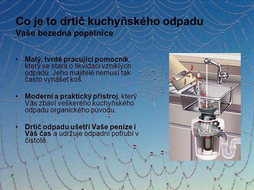 Drcení odpadků V procesu drcení se uvolňuje voda, jež je v odpadu obsažená.