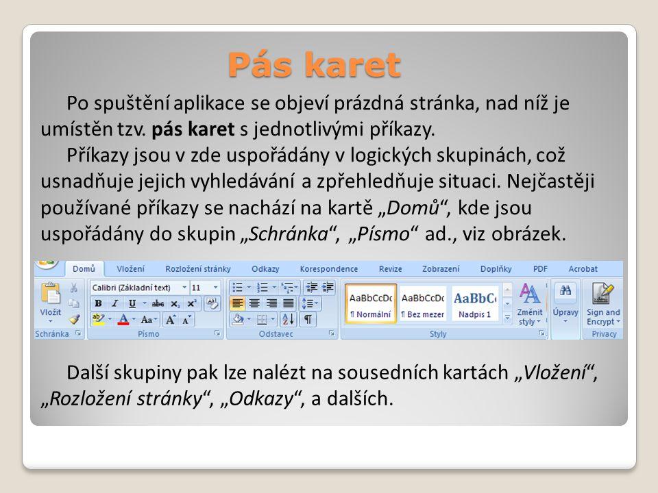Formát písma Jednou ze základních úprav textu je formát písma.
