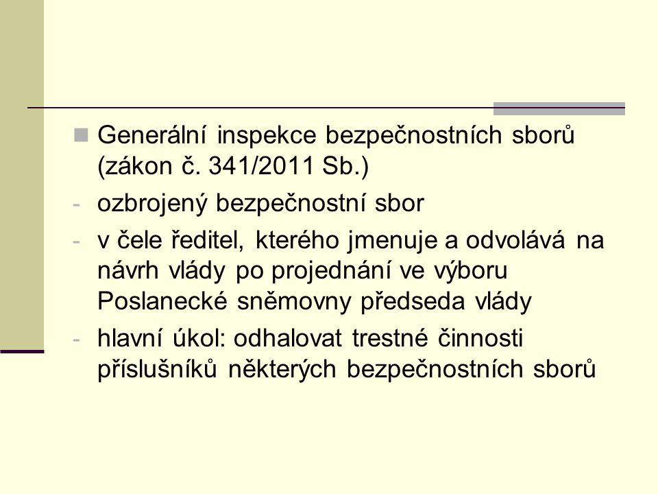Generální inspekce bezpečnostních sborů (zákon č.