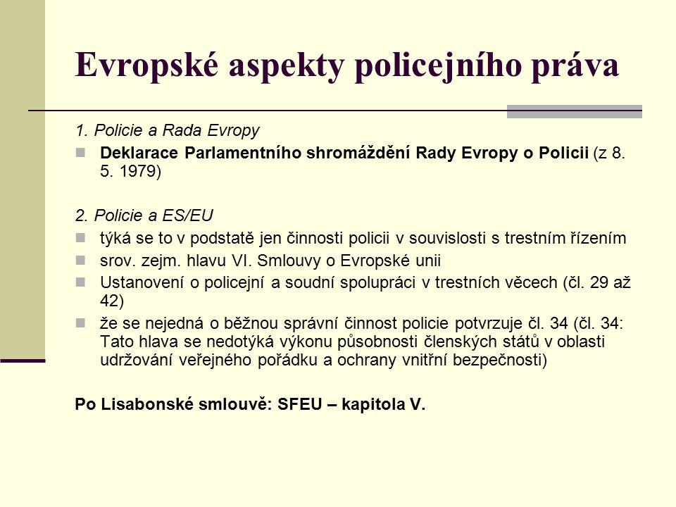 Evropské aspekty policejního práva 1.