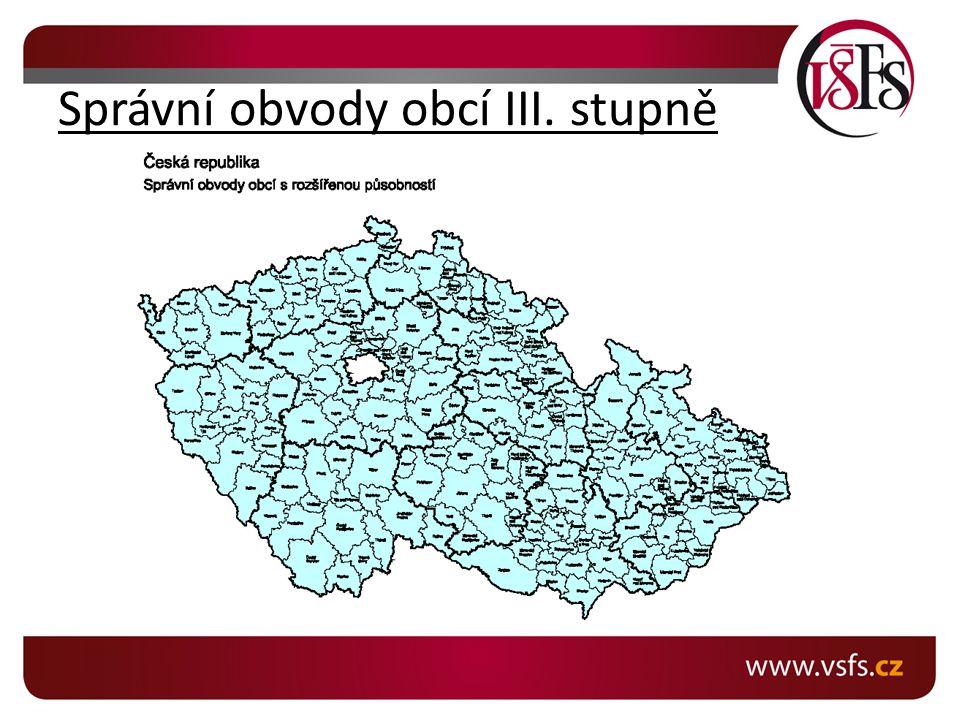 Správní obvody obcí III. stupně