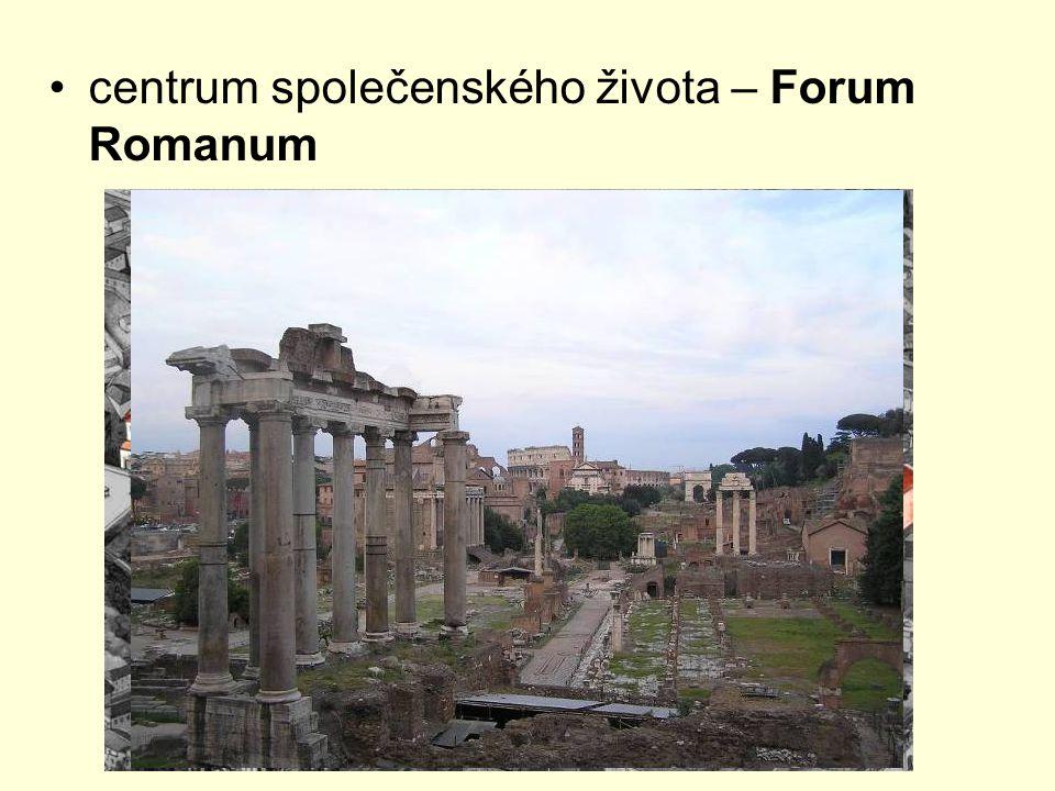 centrum společenského života – Forum Romanum