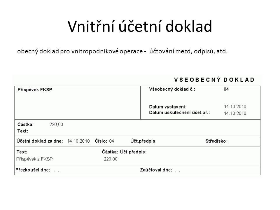 Příjemka příjem zásob na sklad