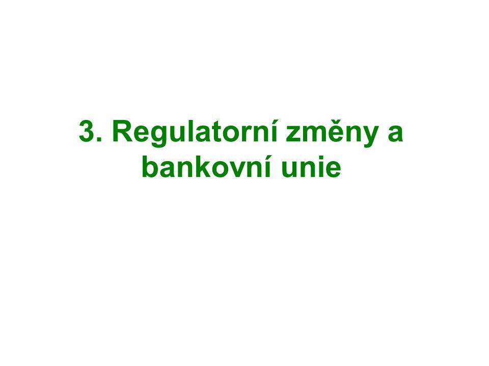 3. Regulatorní změny a bankovní unie