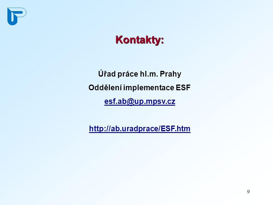 9 Kontakty: Úřad práce hl.m.