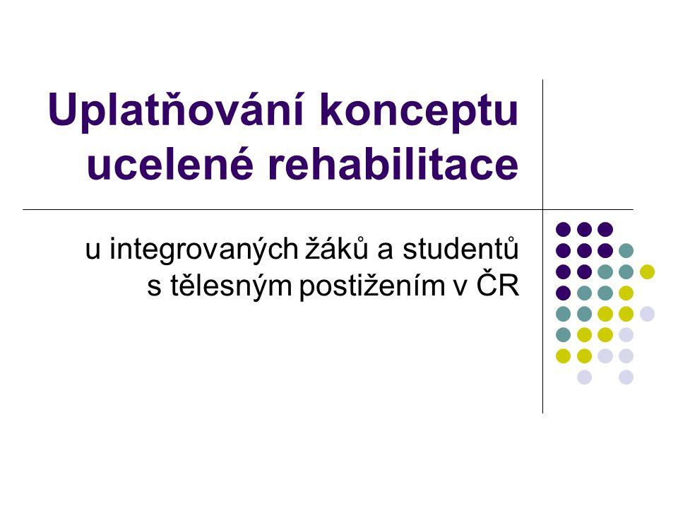 Uplatňování konceptu ucelené rehabilitace u integrovaných žáků a studentů s tělesným postižením v ČR