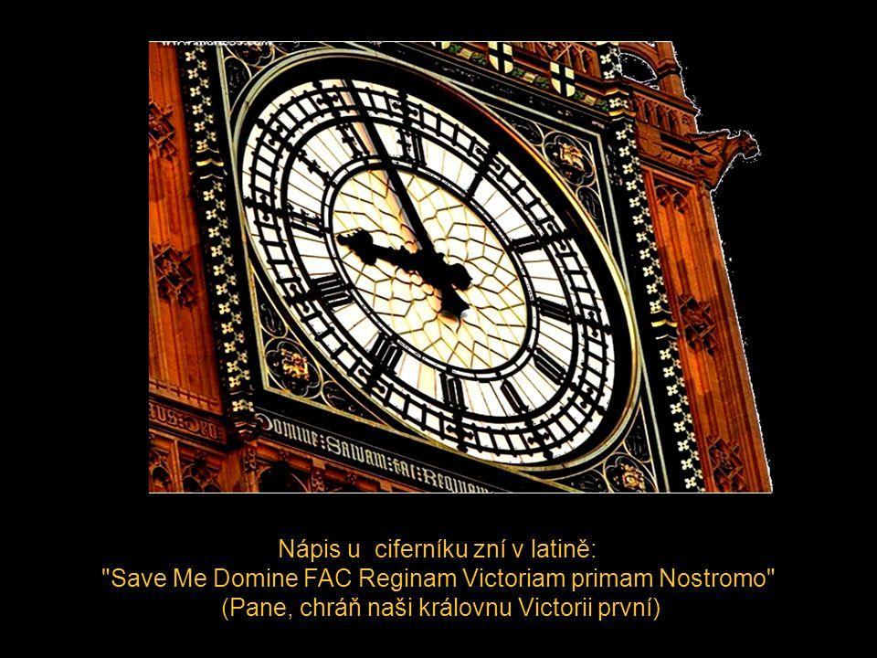 Big Ben je Obvyklý slangový název pro věž s hodinami při Westminsterském paláci