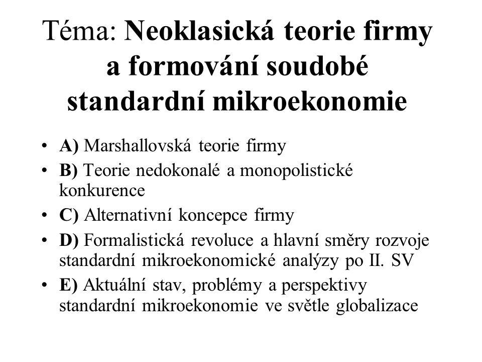 Ukázka doporučené literatury v jazyce českém a slovenském (blíže viz sylabus) : Hlaváček, J.