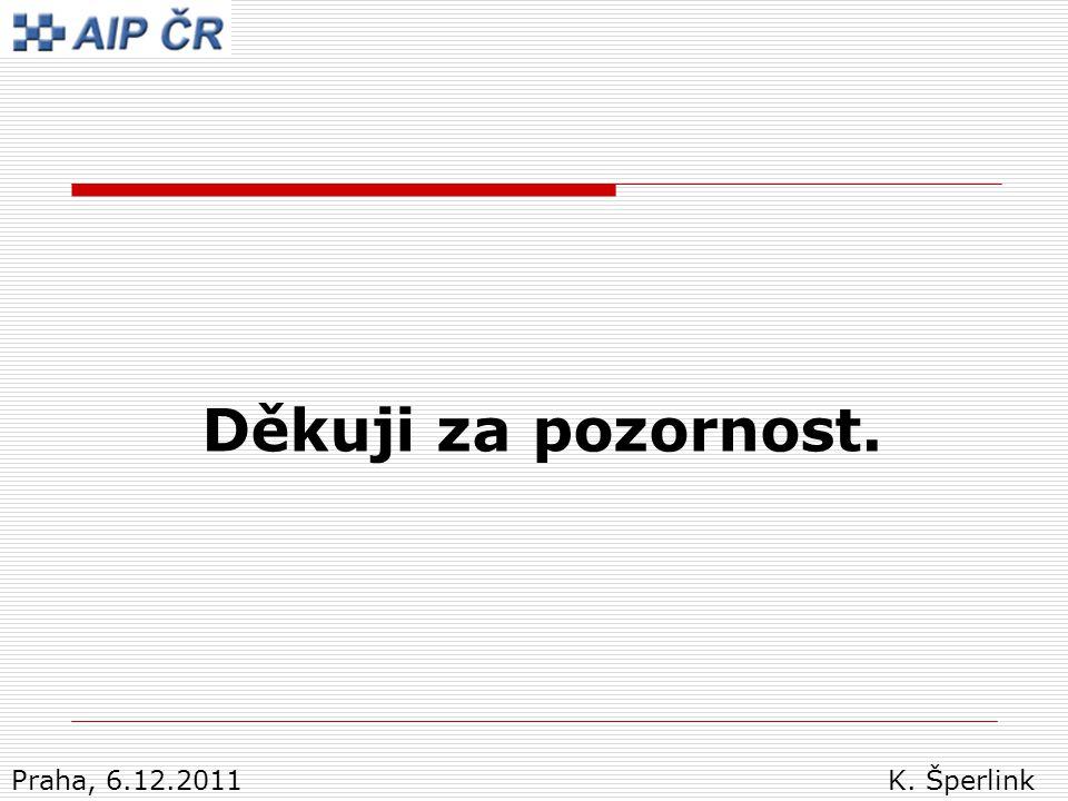 Děkuji za pozornost. Praha, 6.12.2011 K. Šperlink