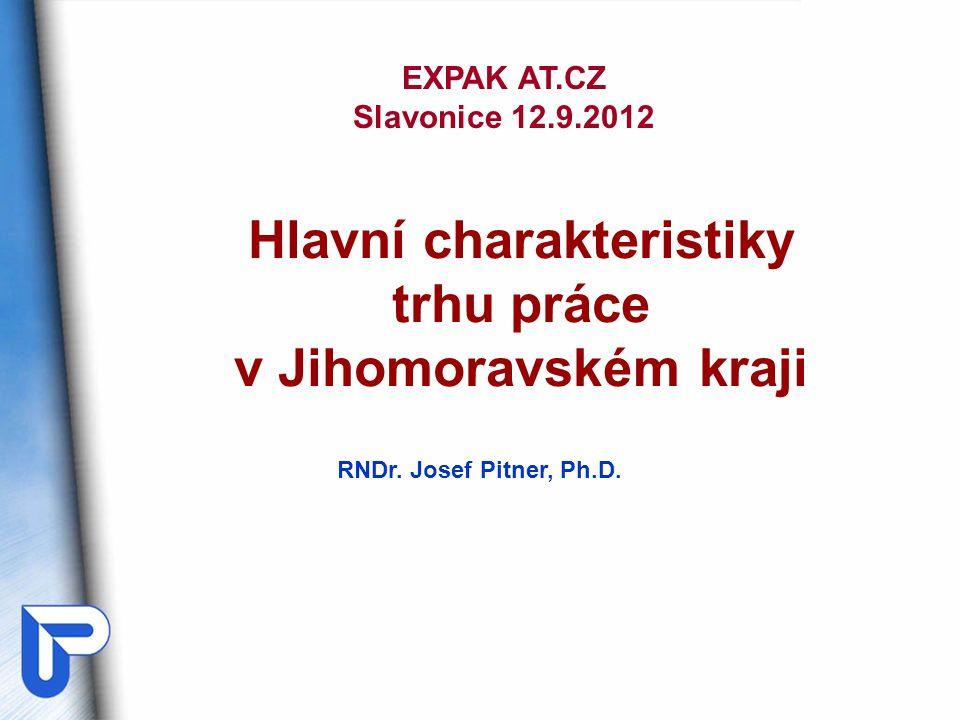 I.Situace na trhu práce v JMK – stručná charakteristika.
