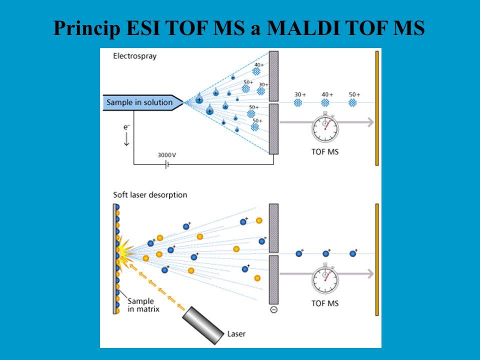 Princip ESI TOF MS a MALDI TOF MS