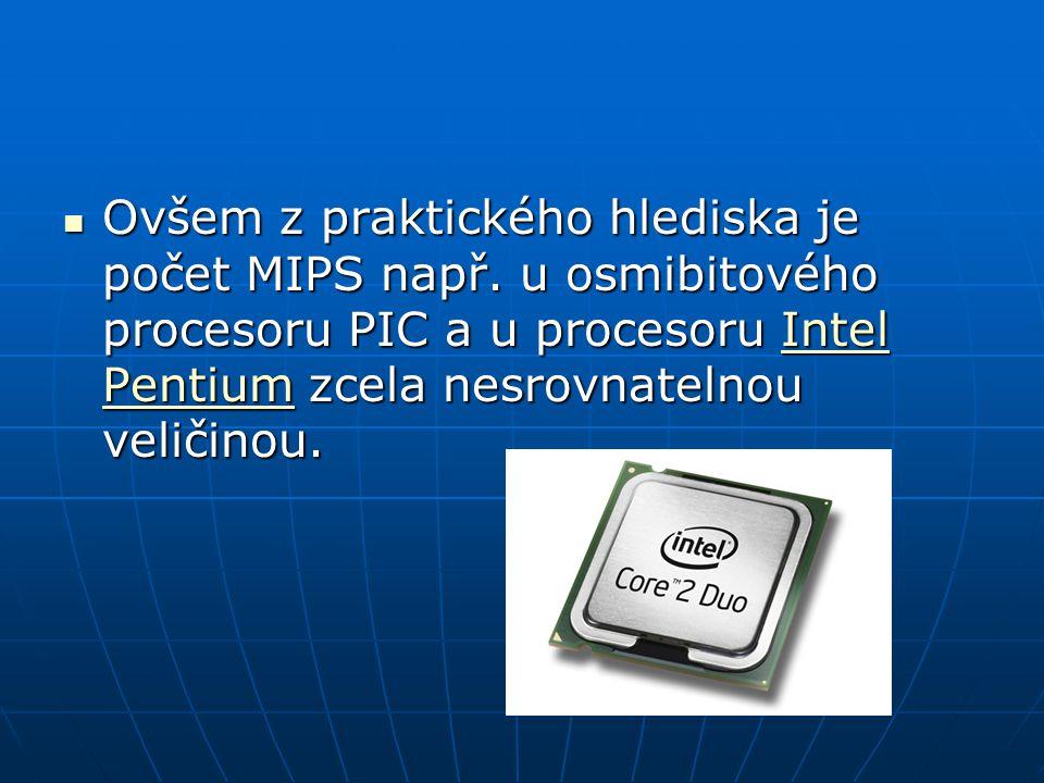 Moderní procesory jsou podstatně rychlejší než externí o o o o o pppp eeee rrrr aaaa čččč nnnn íííí p p p p aaaa mmmm ěěěě ťťťť, takže reálný výkon značně závisí také na rychlosti a šířce externí paměti a na velikosti a uspořádání vyrovnávacích pamětí c c c c c aaaa cccc hhhh eeee uvnitř procesoru.