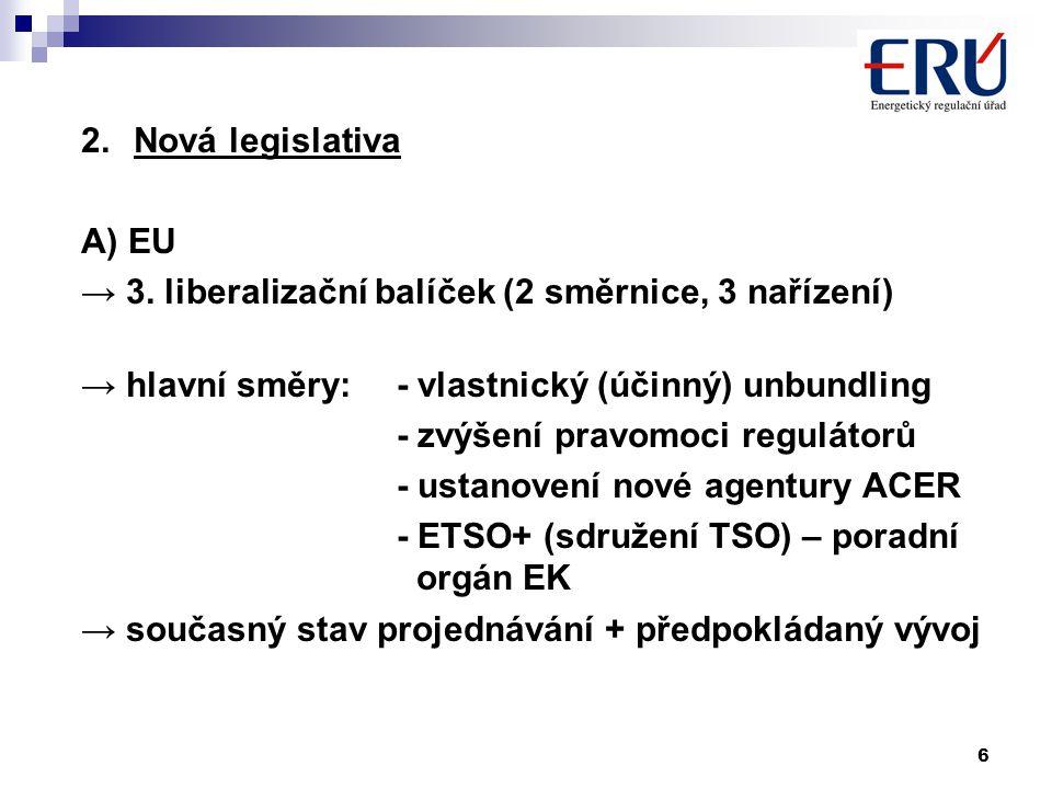 6 2.Nová legislativa A) EU → 3.