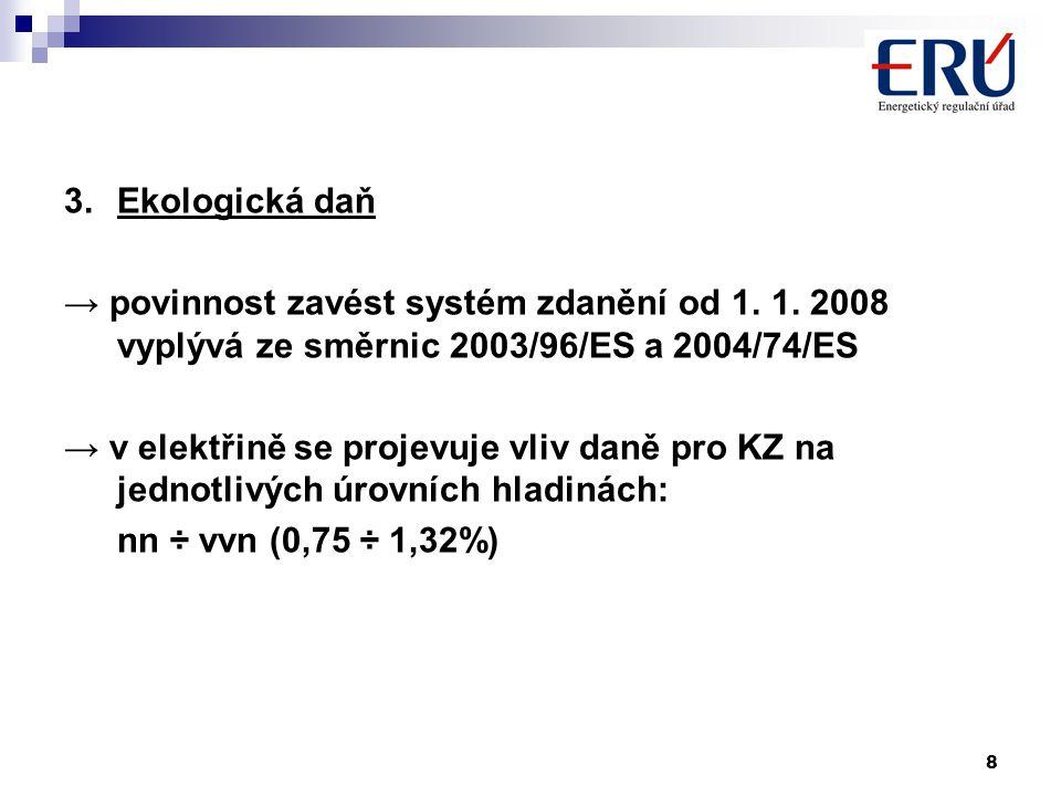 8 3.Ekologická daň → povinnost zavést systém zdanění od 1.