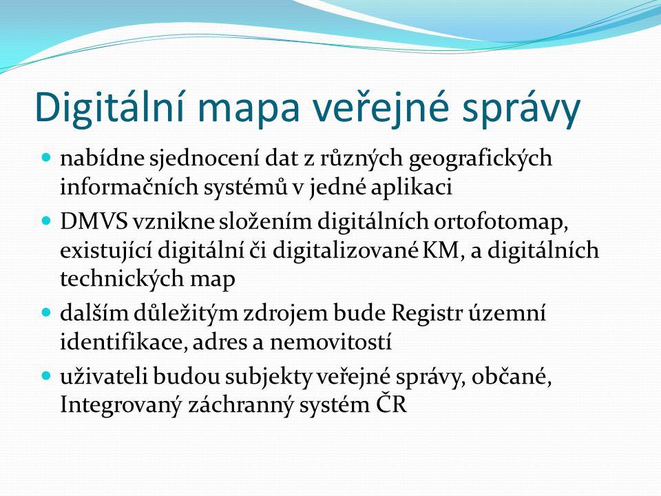 Digitální mapa veřejné správy nabídne sjednocení dat z různých geografických informačních systémů v jedné aplikaci DMVS vznikne složením digitálních o