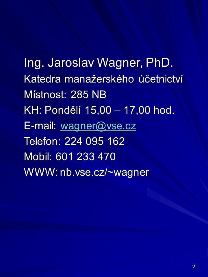 2 Ing. Jaroslav Wagner, PhD.